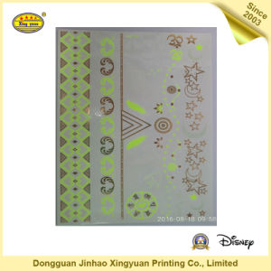 Gold and Silver Flash Tattoo Stickers for Girls (JHXY-TT0017) pictures & photos