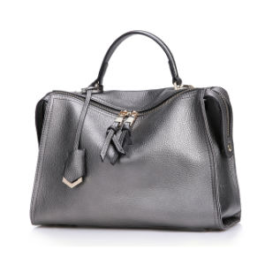 Latest Design Patent Faux Leather Glossy Top Handle Women′s Bag (ZX10278) pictures & photos