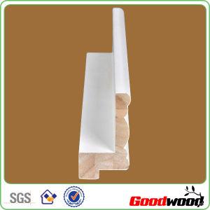 Wood Plantation Shutter Components White Primer Louver Crown Frame