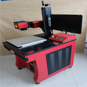 Cheap Fiber Laser Marking Machine for Numbering Coding pictures & photos