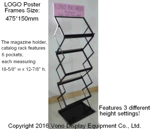 Exhibition Display Portable Literature Floor Stand with Carrying Bag