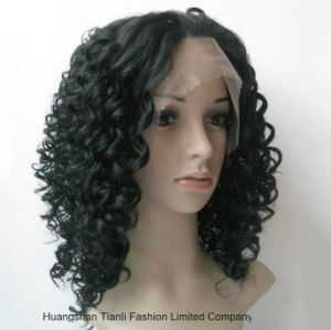 20inch 190%-200% Density Kinky Curl Peruvian Hair Full Lace Wigs
