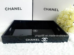 New Design OEM Black Acrylic Serving Tray pictures & photos