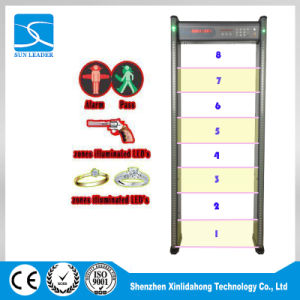 China High Accuracy Security Checking Body Scanner Walk Through Metal Detector Gate for Airport Xld-B (LED) pictures & photos