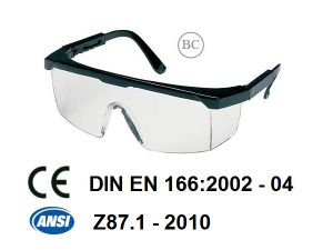 Safety Glasses for Working (JK12003-Black+Clear) pictures & photos