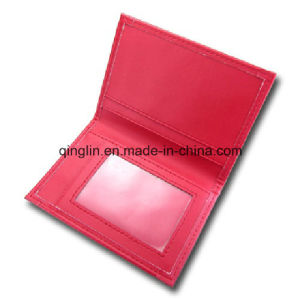 Promotion Red Genuine Leather Women Credit Card Case (QL-KB-0006) pictures & photos