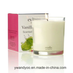 Scented Soy Gift Candle in White Glass with Luxury Box for Parties pictures & photos