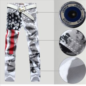 Hot Fashion Men′s Printed Design Casual Jeans pictures & photos