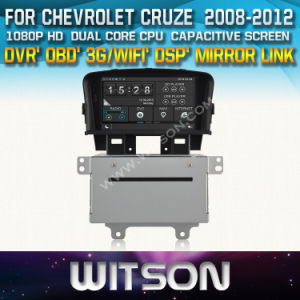 Witson Car DVD Player with GPS for Chevrolet Cruze 2008-2012 (W2-D8422C) Front DVR Capactive Screen OBD 3G WiFi Bluetooth RDS pictures & photos
