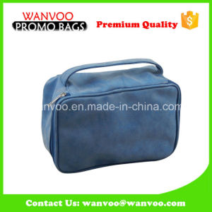 Soft PU Eco Beauty Cosmetic Tote Bag with Custom Label pictures & photos