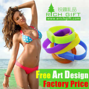 Factory Cheap Custom Silicone USB Flash Drive Bracelet Sizes Mould pictures & photos