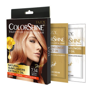 New Promotion Sunflower Extract Hair Color Cream 25ml*2 pictures & photos