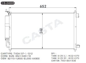 After market auto condenser For Nissan Tiida (07-) /G12 pictures & photos