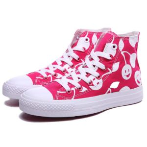 Galaxy Print High-Top Lace-up Mens&Womens Casual Skate Shoes Sneakers pictures & photos