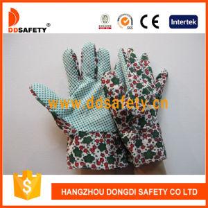 Flower Cotton Gardening Band Cuff Dots Garden Glove Dgb104 pictures & photos