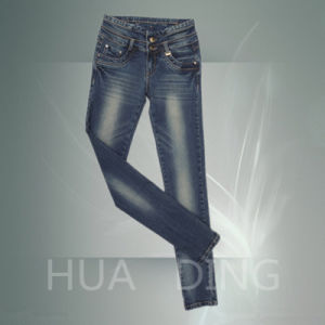 New Fashion Design Hight Quality Ladies Jeans (HDLJ0051) pictures & photos