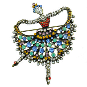 How Sale Colorful Rhinestone Ballet Dancer Brooch for Women pictures & photos