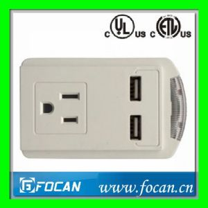 Grounding Adapter with USB Ports pictures & photos