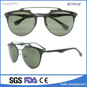 Fashion Women′s Metal Frame UV400 Protection Polarized Sun Glasses pictures & photos