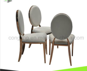 Metal Cheap White Fabric Dining Chair for Sale pictures & photos