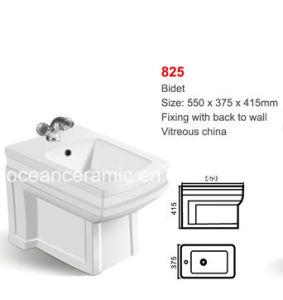Europen Style White Glazed Ceramic Bidet (No. 825) pictures & photos