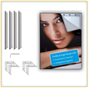 Aluminum Tension LED Sidelit Fabric Light Box pictures & photos