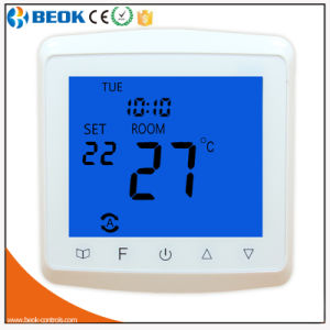 16A Blue Color Glass Screen HVAC Theory Heating Thermostat (TST90-EP) pictures & photos