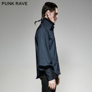 Y-719 Punk Rave Brand Steampunk Striped Excellent Handle Vertical Sense Plaid Shirt pictures & photos