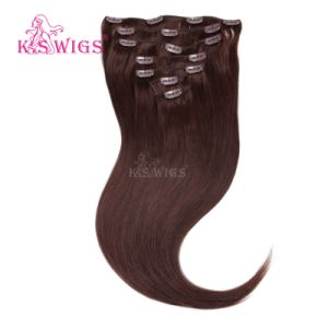 Clip in Hair Brazilian Human Hair Extension pictures & photos