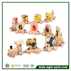 Kids Wooden Train with 12 Chinese Zodiac and Arabic Numerals pictures & photos