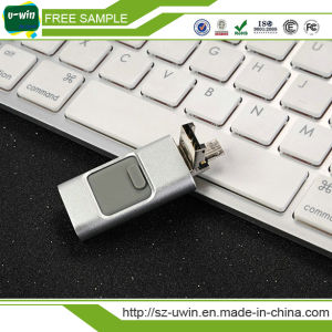 OTG USB 3.0 Flash Drive Gloden Flash Drive for iPhone pictures & photos