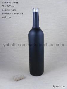 Bordeaux Matte Glass Wine Bottle pictures & photos