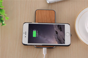 Metal Wood Qi Charger for Qi Universal Wireless Charger