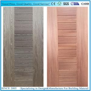 Coloration Teak/Natural Thailand Teak Wood Veneer Moulded HDF Door Skins pictures & photos