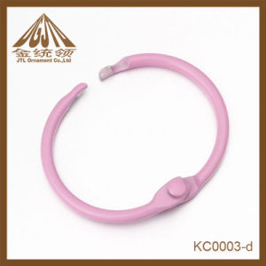 Fashion Nice Quality Pink Painting Loose Leaf Rings 25mm Wholesale pictures & photos