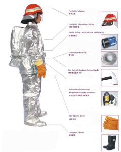 Solas Approved Aluminum Film Fireproof Suit pictures & photos