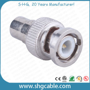 BNC to RCA Adapter Connector for Coaxial Cable Rg59 RG6 pictures & photos