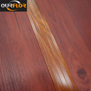 WPC Vinyl Click Flooring Planks with T Shaped Wrapping Stripes Joint pictures & photos