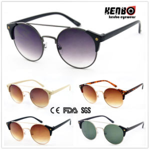 Fashion Round Frame Metal Sunglasses for Accessory, CE FDA UV400. Km15112 pictures & photos