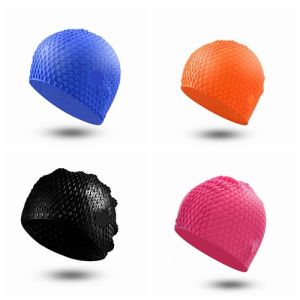 Fashion Durable Silicone Bubble Swimming Cap pictures & photos