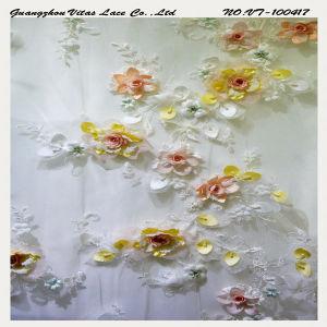 Colorful 3D Floral Lace Fabric Vl-100417-3DBP pictures & photos