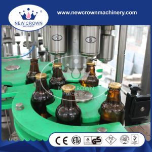 2000bph Twice Vacuum 3 in 1 Beer Filling Machine for Glass Bottle pictures & photos