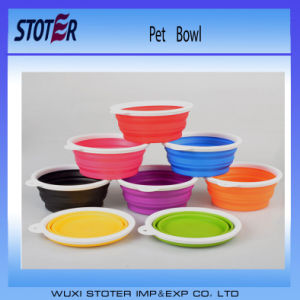 Colorful Foldable Red Color Silicone Pet Bowl pictures & photos