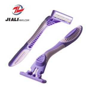 Great Shape Triple Blade Disposable Razor (SL-3102TL) Shaving Blade pictures & photos