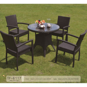 China Modern Patio Hotel Rattan Table Set and Dining Chairs Garden Furniture