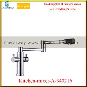 Double Handle Pull out Spray Kitchen Sink Tap pictures & photos
