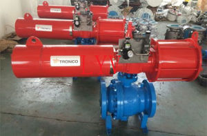 Worm Gear Flanged Top Entry Ball Valve pictures & photos