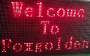 Outdoor Single Color P10mm Message LED Display for Store pictures & photos