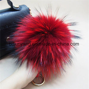 Promotion Gift Raccoon Fur Pompom Keychain pictures & photos
