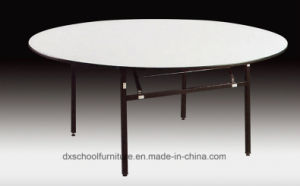 Wooden Foldable Round Dining Table for Restaurant pictures & photos